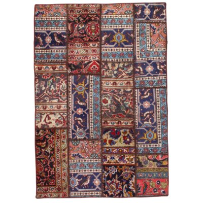 Persian Decorative Hand Knotted Wool Red Area Rug