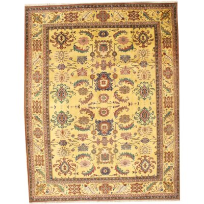 Fine Agra Hand Knotted Wool Ivory Area Rug