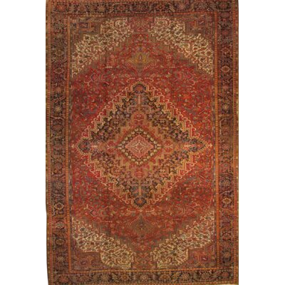 Persian Heriz Family Hand Knotted Wool Brown Area Rug