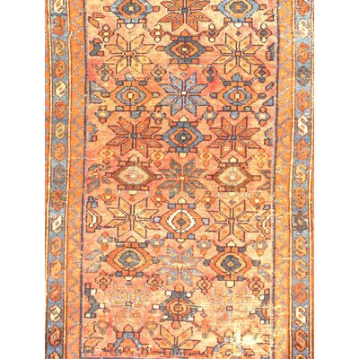 Persian Hamadan Hand Knotted Wool Rose Area Rug
