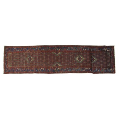 Fine Indo Kashan Design Hand-Knotted Wool Red Area Rug