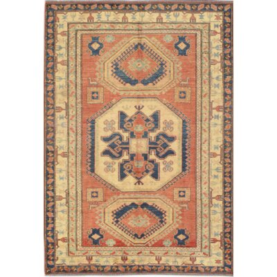 Fine Pak Peshawar Hand-Knotted Wool Rust Area Rug