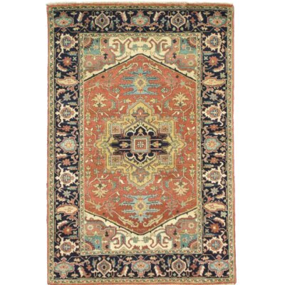Persian Hand Knotted Wool Rust Area Rug