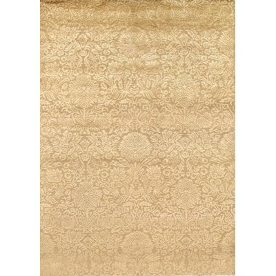 Indo Tabriz Hand Knotted Wool Beige Area Rug