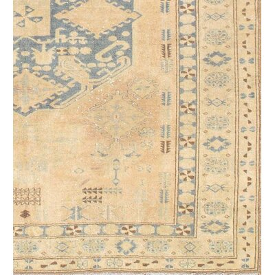 Kazak Hand Knotted Wool Beige/Blue Area Rug