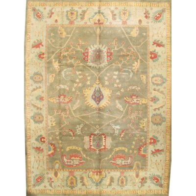 Sultanabad Hand Knotted Wool Beige/Green Area Rug