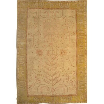 Turkish Oushak Hand Knotted Wool Beige/Gold Area Rug
