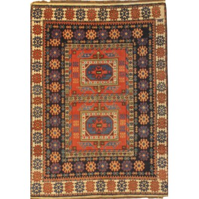 Kazak Hand Knotted Wool Red/Purple Area Rug