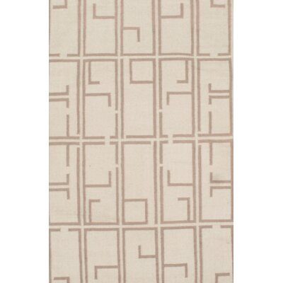 Flat Weave Hand Knotted Wool Beige/Brown Area Rug