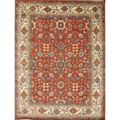 Mahal Hand Knotted Wool Red/Beige Area Rug