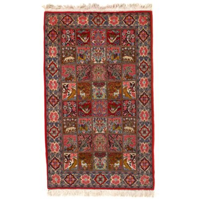 Persian Hand Knotted Wool Red Area Rug
