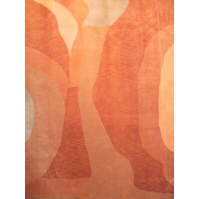 Tebbetian Modern Hand Knotted Wool Orange Area Rug
