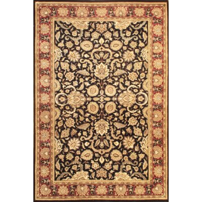 Tabriz Hand Knotted Wool Black/Gold Area Rug