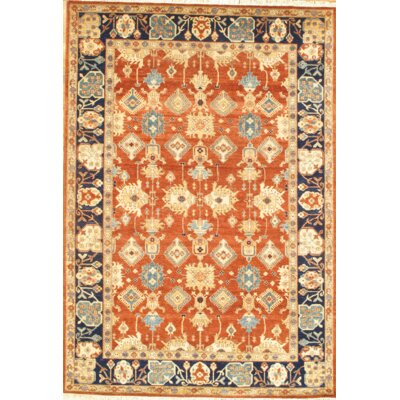 Sultanabad Hand Knotted Wool Orange/Beige Area Rug