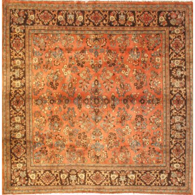 Persian Sarouk Hand Knotted Wool Orange/Gold Area Rug
