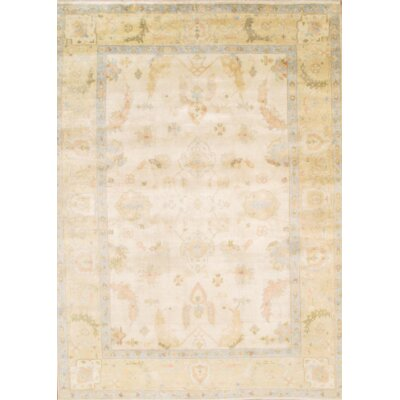 Turkish Oushak Hand Knotted Wool Beige Area Rug