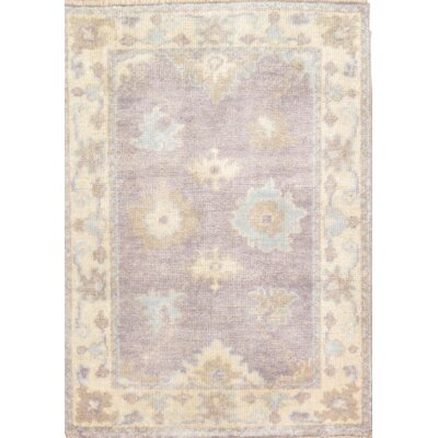 Turkish Oushak Hand Knotted Wool Blue/Ivory Area Rug