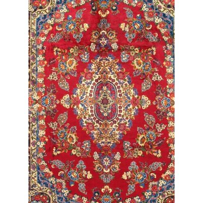Persian Yazd Hand Knotted Wool Red/Ivory Area Rug