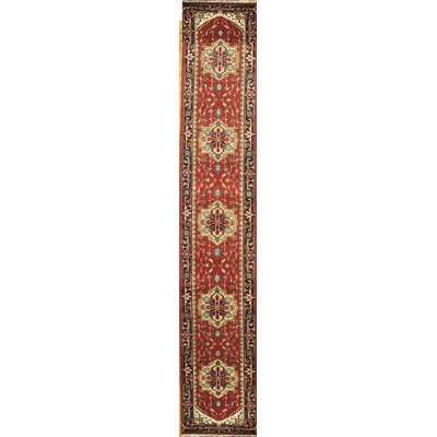 Serapi Hand Knotted Wool Rust/Navy Area Rug