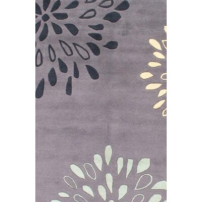 Modern Hand Knotted Wool Gray Area Rug
