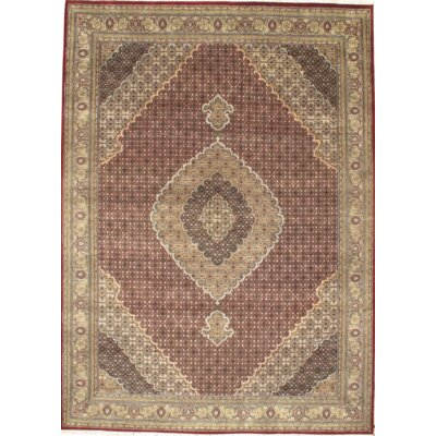 Tabriz Hand Knotted Wool Red/Ivory Area Rug