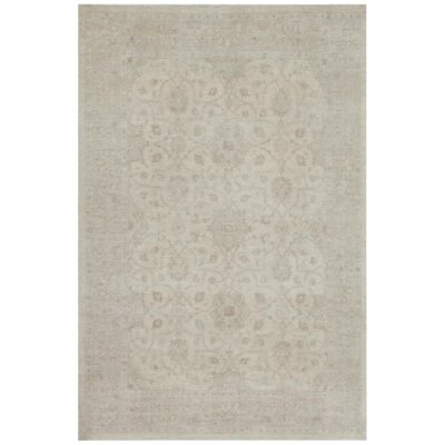 Farahan Hand Knotted Wool Beige/Gold Area Rug