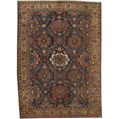 Persian Heriz Hand Knotted Wool Gold/Black Area Rug