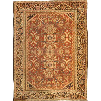 Persian Mahal Hand Knotted Wool Rust/Navy Area Rug