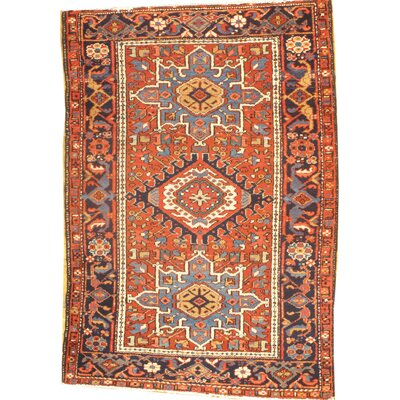 Karaje Hand Knotted Wool Rust Area Rug