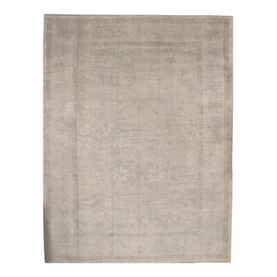 Turkish Oushak Original Hand Knotted Wool Beige Area Rug