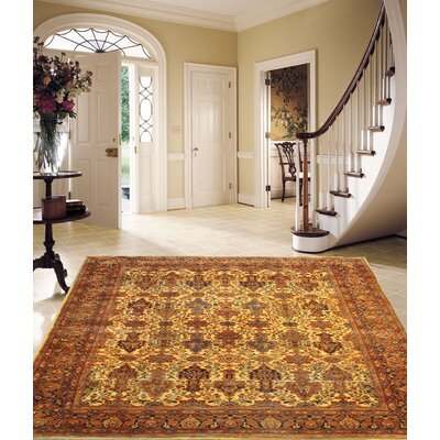 Persian Antique Ferahan Hand Knotted Wool Rust Area Rug