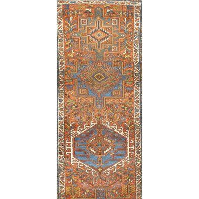 Persian Antique Karajeh Hand Knotted Wool Rust Area Rug