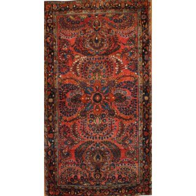 Persian Antique Sarouk Hand-Knotted Wool Rust Area Rug