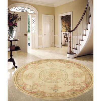 Sino Savonnerie Hand-Knotted Wool Ivory Area Rug