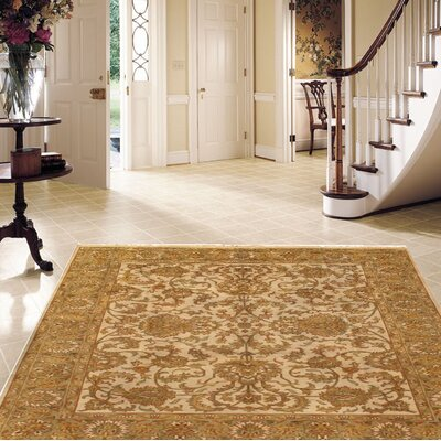 Tabriz Modern Hand Knotted Wool Gold Area Rug