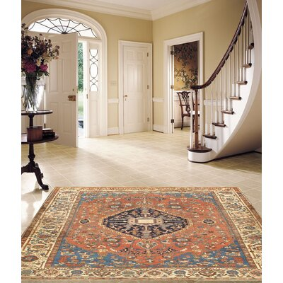 Persian Serapi Hand-Knotted Wool Rust Area Rug