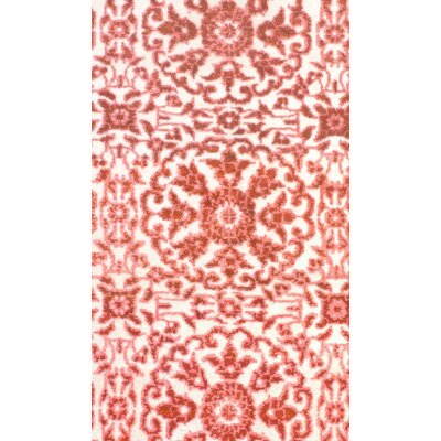 Modern Hand Knotted Wool Pink Area Rug