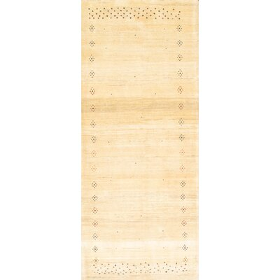 Persian Gabbeh Hand Knotted Wool Ivory Area Rug