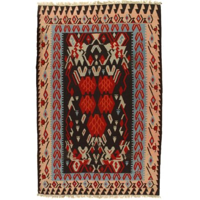 Turkish Kilim Vintage Hand Knotted Wool Brown/Ivory Area Rug