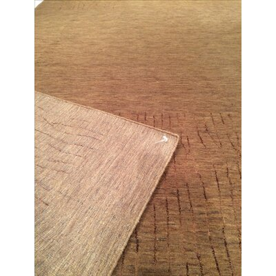 Modern Hand Knotted Wool Light Brown Area Rug