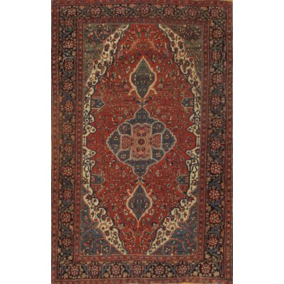 Persian Ferahan Antique Hand-Knotted Wool Rust Area Rug