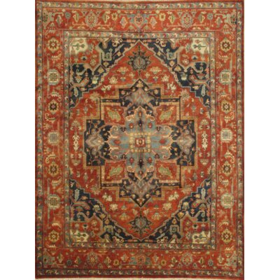 Serapi Indo Hand-Knotted Wool Rust Area Rug