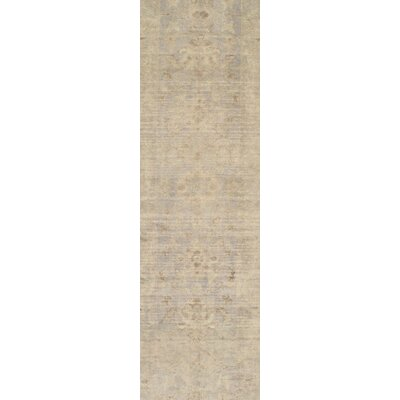 Oushak Vintage Turkish Hand-Knotted Wool Ivory Area Rug