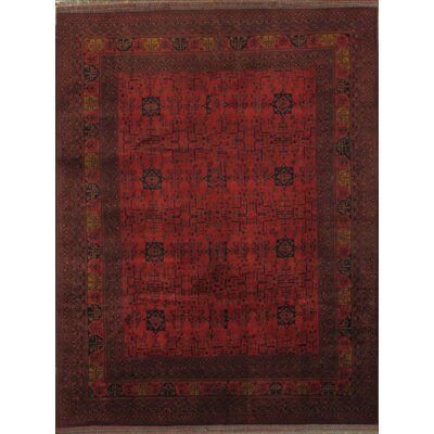 Bashir Hand-Knotted Wool Rust Area Rug