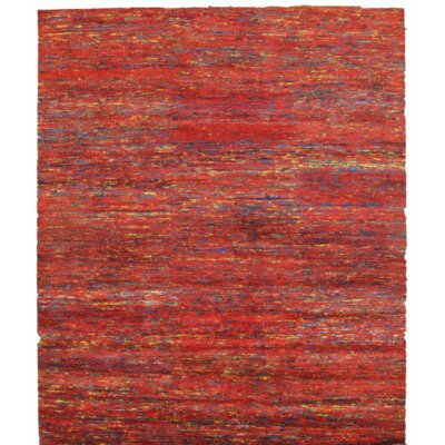 Sari Hand-Knotted Silk Red Area Rug