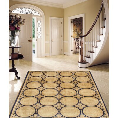 Spanish Hand-Knotted Wool Beige Area Rug