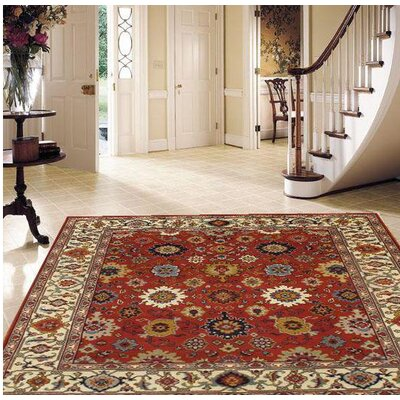 Mahal Hand-Knotted Wool Rust Area Rug