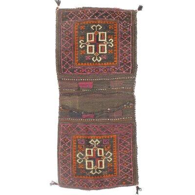 Persian Saddlebag Hand-Woven Wool Red Area Rug
