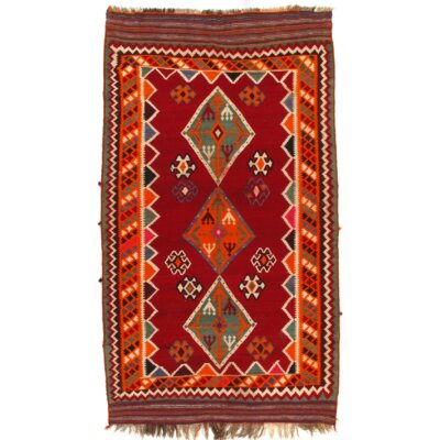 Persian Handmade Kilim Wool Red Area Rug