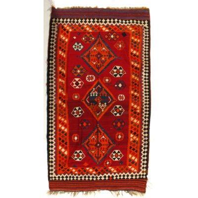 One-of-a-Kind Persian Handmade Kilim Wool Red Area Rug